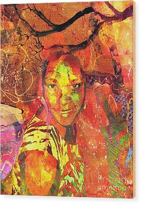 Alive Wood Print by Fania Simon