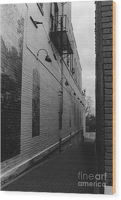 Alley Wood Print by Michelle OConnor
