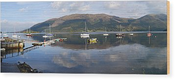 Along Loch Leven 3 Wood Print by Wendy Wilton