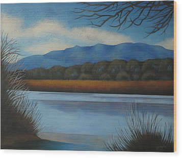 Along The Rio Grande Wood Print