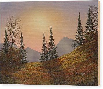 Alpine Sunset Wood Print by Frank Wilson