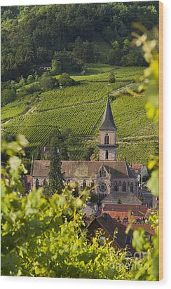 Alsace Church Wood Print by Brian Jannsen