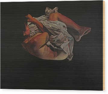 Wood Print featuring the painting 2 Am by Thu Nguyen