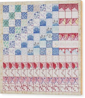 America The Beautiful Wood Print by Elizabeth Lee