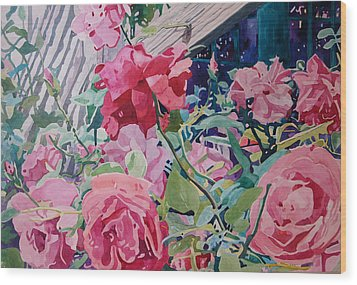 American Beauty Wood Print by Terry Holliday