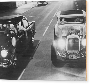 American Graffiti  Wood Print by Silver Screen