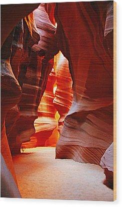 Antelope Canyon  Wood Print by Aidan Moran