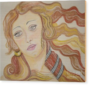 Aphrodite Goddess Of Love Wood Print by Lori  Lovetere