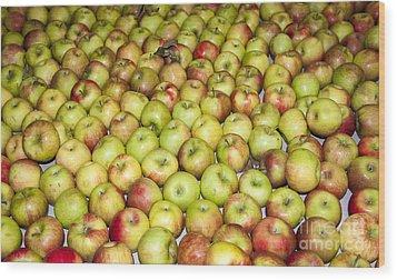 Apples Wood Print by Steven Ralser