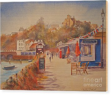 Around Folkestone Harbour Wood Print by Beatrice Cloake