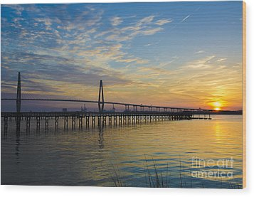 Wood Print featuring the photograph Magical Blue Skies by Dale Powell