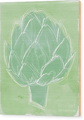 Artichoke Wood Print by Linda Woods