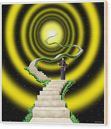 Ascension Wood Print by Scott Ross