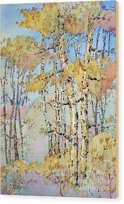 Aspen Color Wood Print by Joyce Hicks
