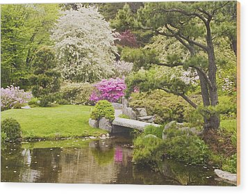 Asticou Azelea Garden - Northeast Harbor - Mount Desert Island - Maine Wood Print