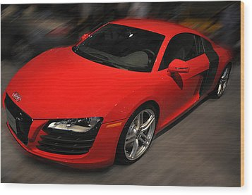 Audi R8 Wood Print by Dragan Kudjerski