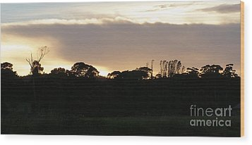 Australian Sunrise Wood Print by Bev Conover