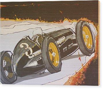 Automobile Racing Wood Print by Paul Guyer