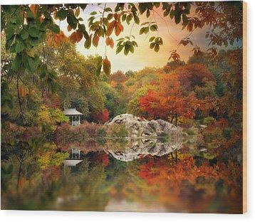 Autumn At Hernshead Wood Print by Jessica Jenney