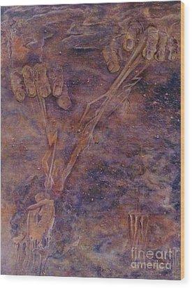 Awaken Wood Print by Jacquelyn Roberts