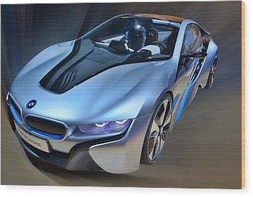 B M W  I8  Concept  2014 Wood Print