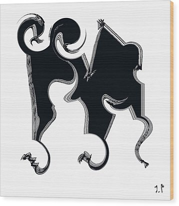 B W  Wood Print by Sir Josef - Social Critic -  Maha Art
