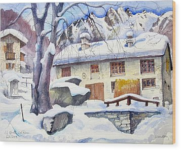 B02  Ticino Ch Wood Print