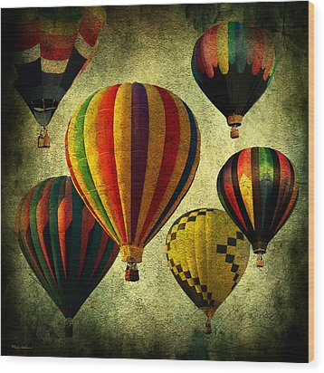 Balloons Wood Print by Mark Ashkenazi