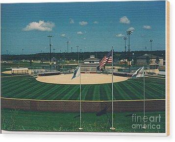 Baseball Diamond Wood Print