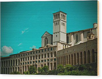 Basilica Of San Francesco Assisi  Wood Print by Raimond Klavins