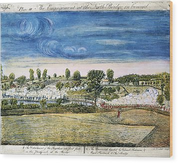 Battle Of Concord, 1775 Wood Print by Granger