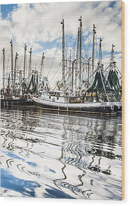 Bayou Labatre' Al Shrimp Boat Reflections Wood Print
