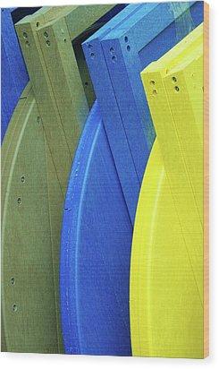 Beach Chair Palette  Wood Print by Allen Beatty