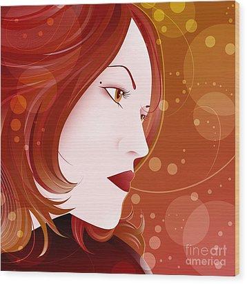 Bella Donna II Wood Print by Sandra Hoefer