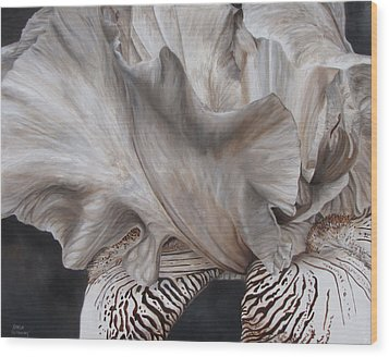 Between The Lines Wood Print by Karlyn Holloway