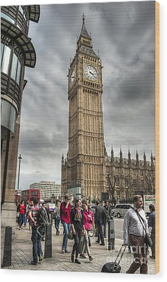 Big Ben London Wood Print by Donald Davis