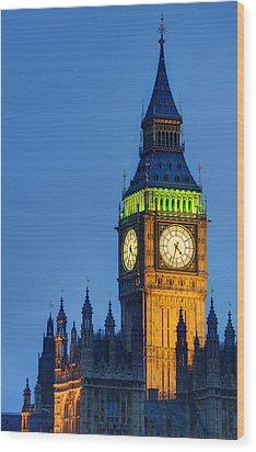 Big Ben London Wood Print by Matthew Gibson