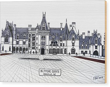 Biltmore Estate Wood Print by Frederic Kohli