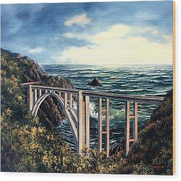 Bixby Creek Bridge Wood Print