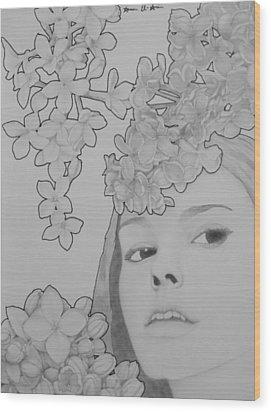 Blooming Girl Lilac  Wood Print by Aaron El-Amin