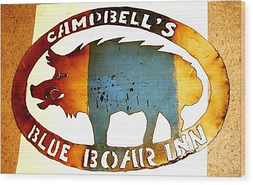Blue Boar Inn Wood Print by Larry Campbell