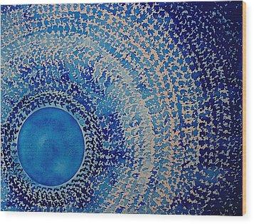 Blue Kachina Original Painting Wood Print