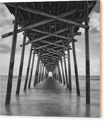 Bogue Inlet Fishing Pier #2 Wood Print