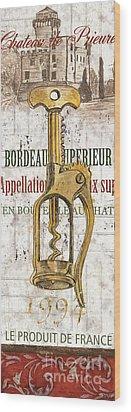 Bordeaux Blanc 2 Wood Print by Debbie DeWitt