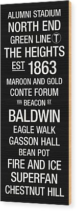 Boston College College Town Wall Art Wood Print by Replay Photos