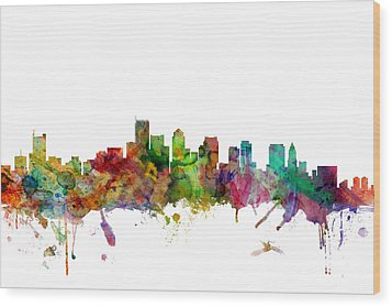 Boston Massachusetts Skyline Wood Print