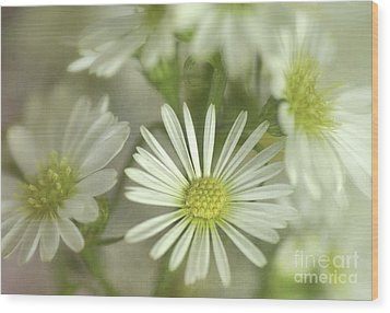Bouquet Of White And Green Wood Print by Julie Palencia