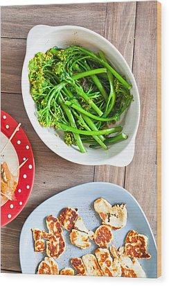 Broccoli Stems Wood Print by Tom Gowanlock