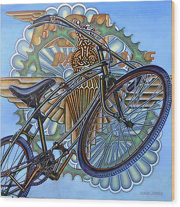 Bsa Parabike Wood Print by Mark Jones