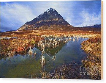Buachaille Etive Mor Scotland Wood Print by Craig B